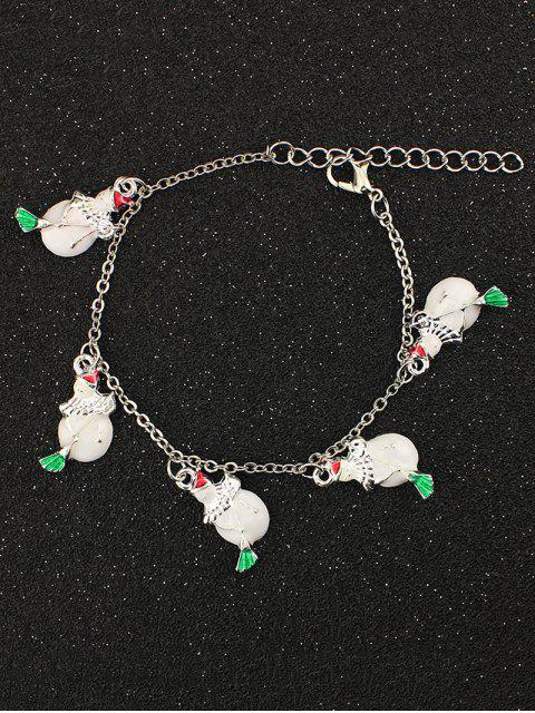 hot Snowman Christmas Bracelet - WHITE  Mobile