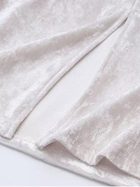 outfits Short Sleeve Velvet Tee - WHITE S Mobile