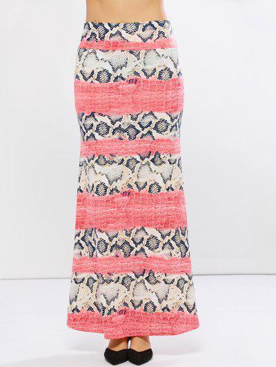 Snake Print Skirt @...