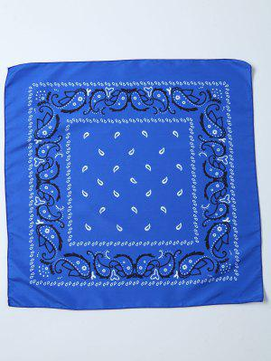 Impreso Paisley Bandana - Azul