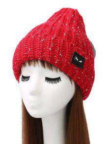 Buy Demon Label Flanging Knit Hat - BRIGHT RED