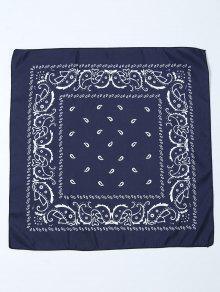 Paisley Printed Bandana - Purplish Blue