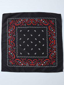 بيزلي مطبوعة باندانا - أسود