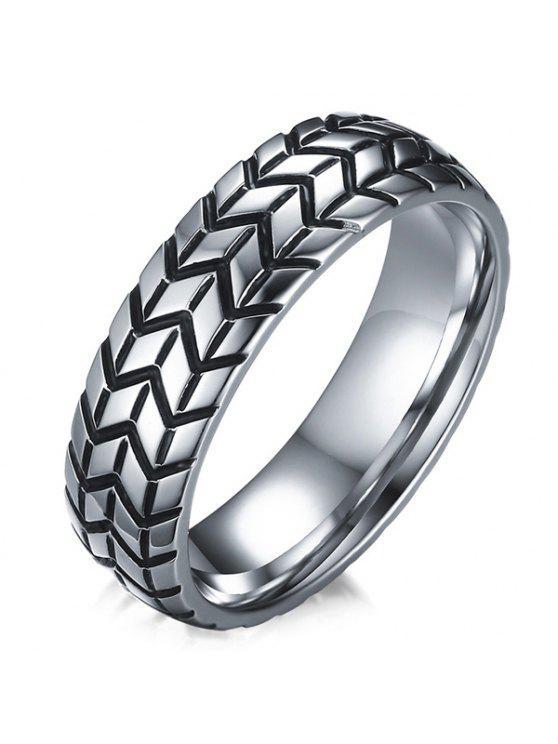 الإطارات محفورة خاتم سبيكة - SILVER 8
