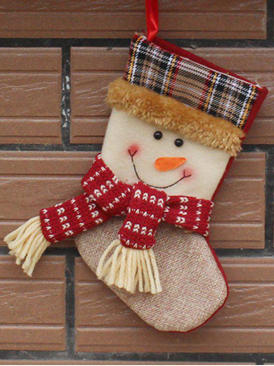 Medias Tejidas Decoración Árbol Navidad Regalos Niños Navideño - Blanco