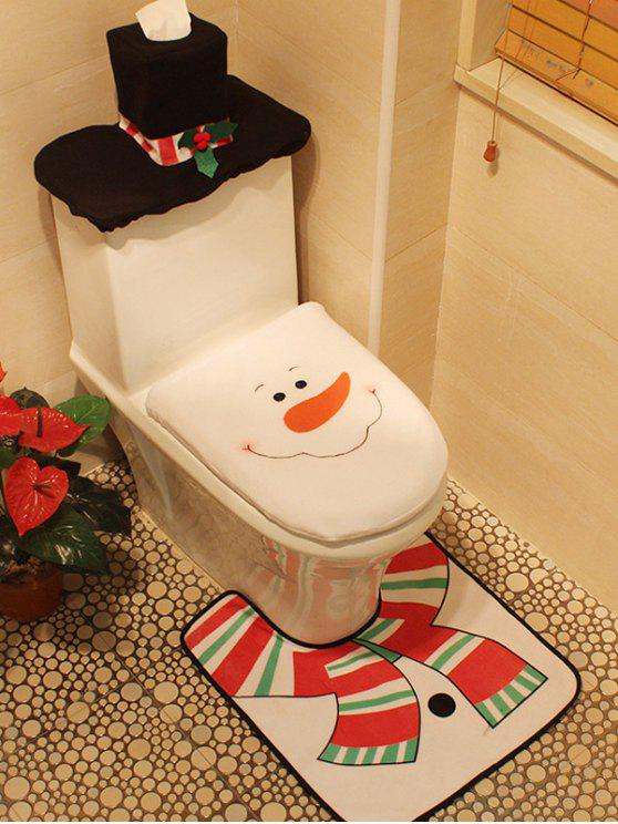 best Christmas 3PCS Snowman Pattern Cover Set - WHITE
