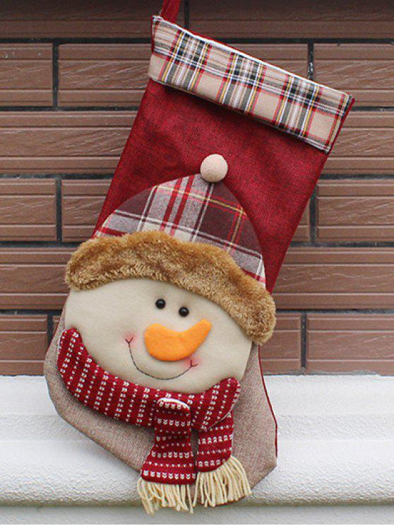 fashion Christmas Present Decoration Bag Sock - COLORMIX