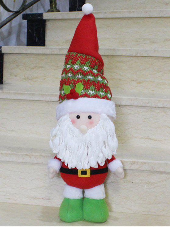 womens Santa Claus Christmas Decoration - RED WITH WHITE