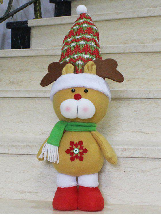 buy Christmas Gift Elk Doll Xmas Decoration - YELLOW