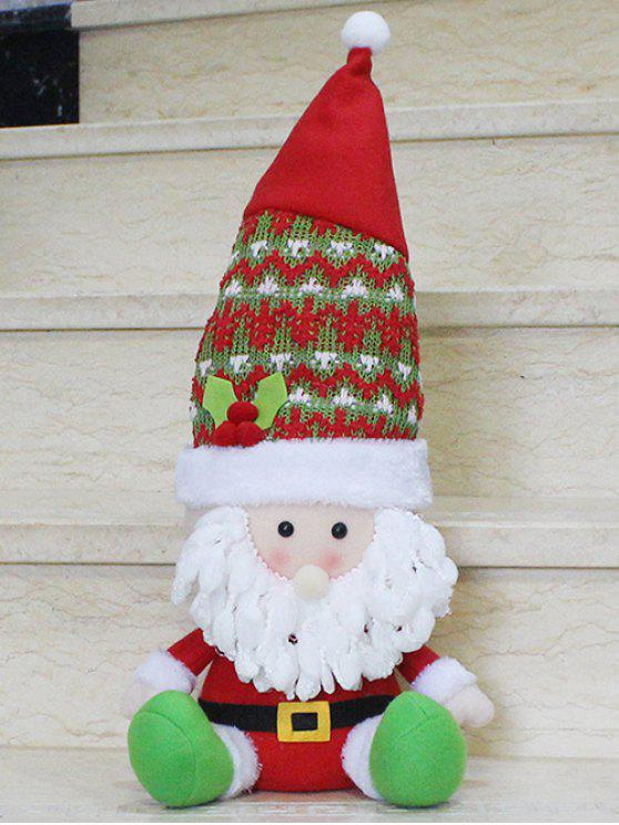 unique Christmas Santa Claus Doll Party Decoration - RED WITH WHITE