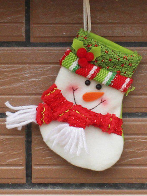 Décoration de Fête de Noël Bonhomme de Neige - Rouge et Blanc
