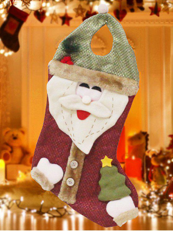 hot Santa Christmas Hanging Present Stocking Bag - RED AND GREEN