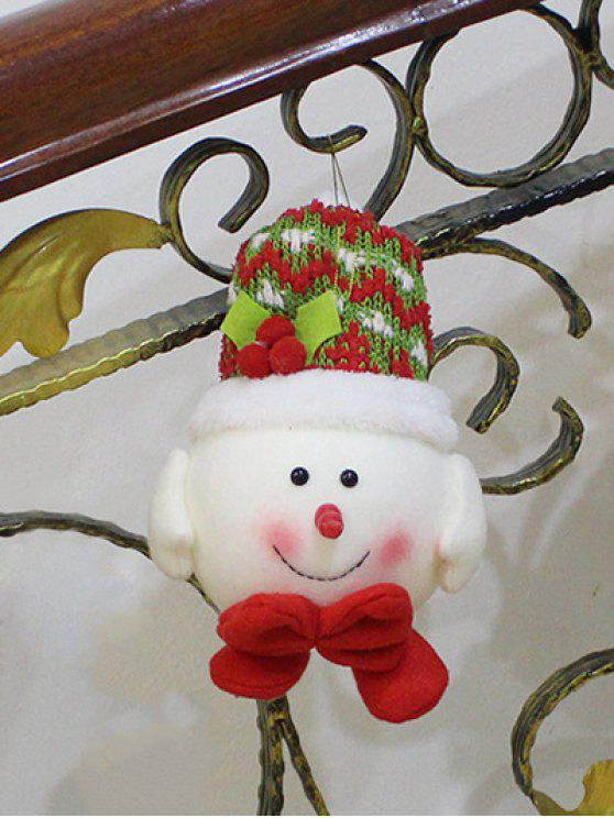 trendy Snowman Hanging Doll Pendant Christmas Decoration - RED WITH WHITE