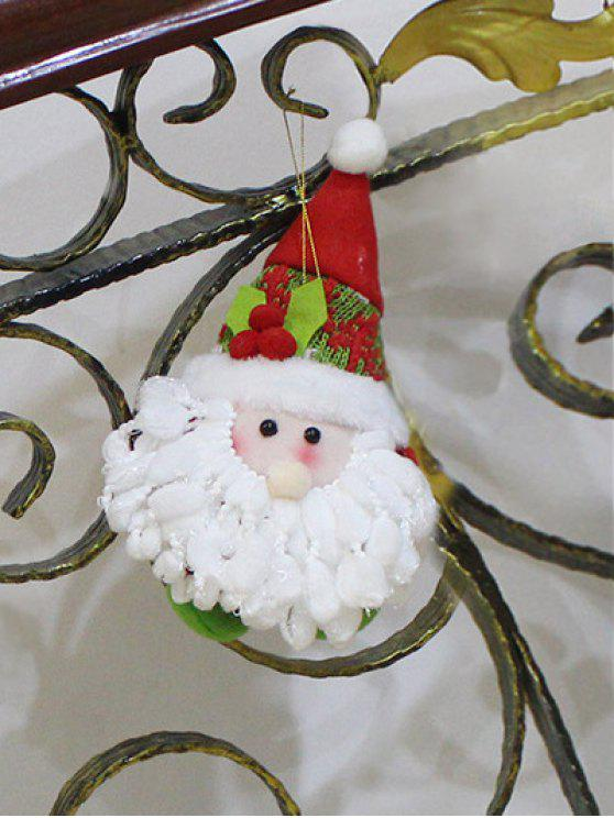 shops Santa Claus Doll Pendant Xmas Tree Decoration - RED WITH WHITE