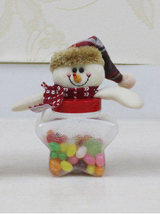 sale Christmas Snowman Kids Gift Candy Jar - TRANSPARENT
