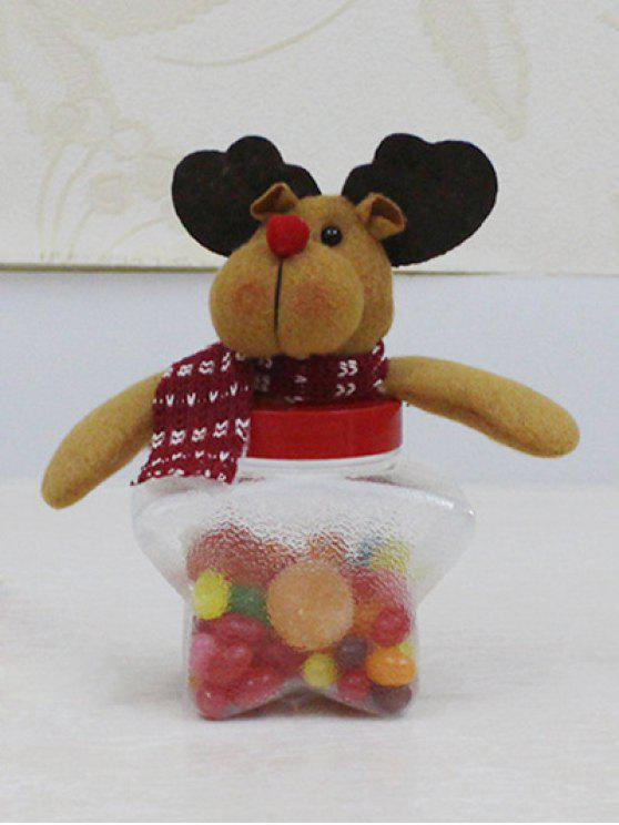 unique Christmas Toy Star Shape Candy Jar - TRANSPARENT