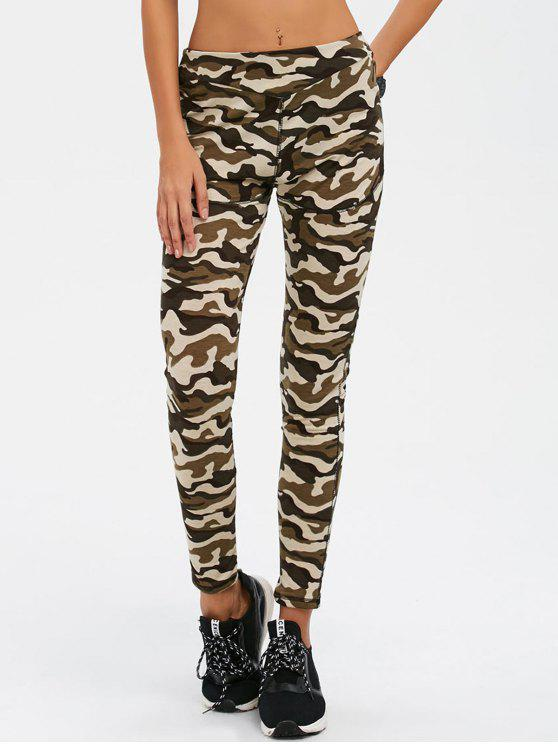new Camouflage Print Exercise Pants - ARMY GREEN CAMOUFLAGE M