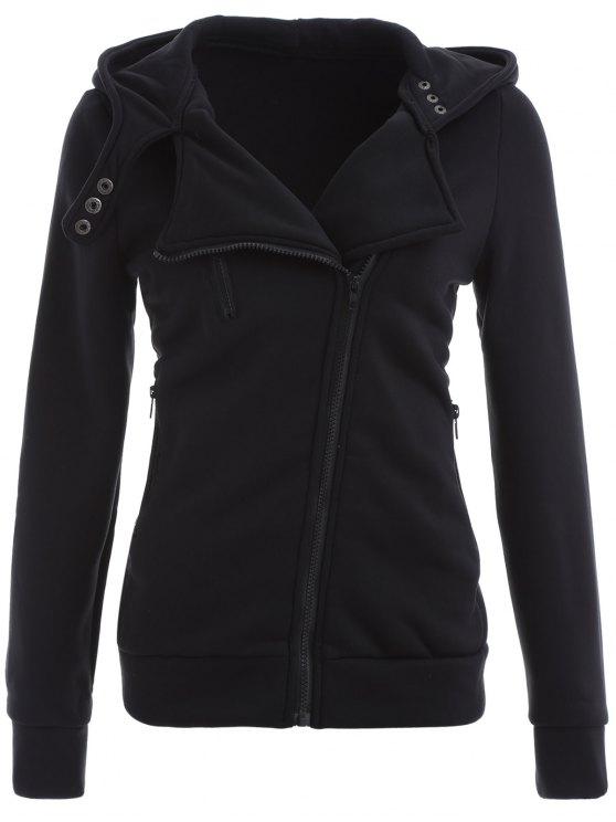 latest Zip Through Hoodie - BLACK S