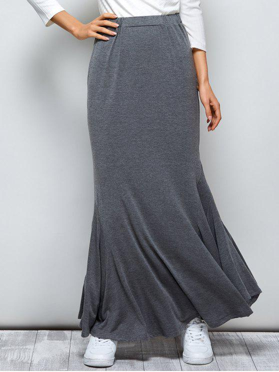 outfits Exotic Maxi Mermaid Skirt - GRAY L