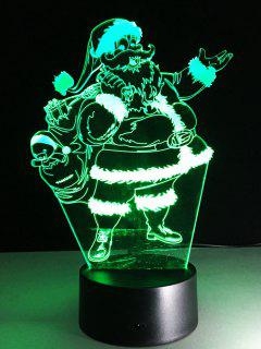 Merry Christmas Santa Claus Touch Night Light - Transparent