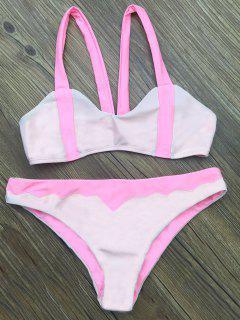 Assortiment De Bikini En Couleurs Festonnées à Fines Bretelles - Rose Clair M