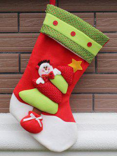 Xmas Tree Hanging Gift Sock - Red And Green