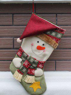 Christmas Snowman Hanging Kids Candy Sock