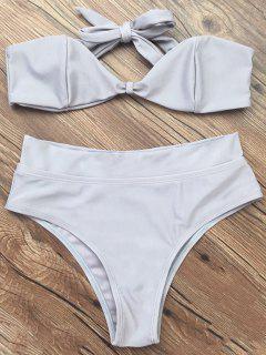 Bandeau-Bikini-Satz - Grau S