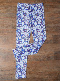 Plant Printed Leggings - Floral Xl