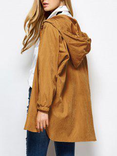 Manteau à Caouche Large Zippé - Camel 2xl