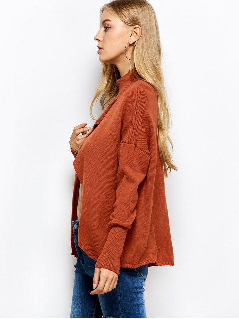 latest Turtleneck Crossover Hem Sweater - JACINTH XL Mobile