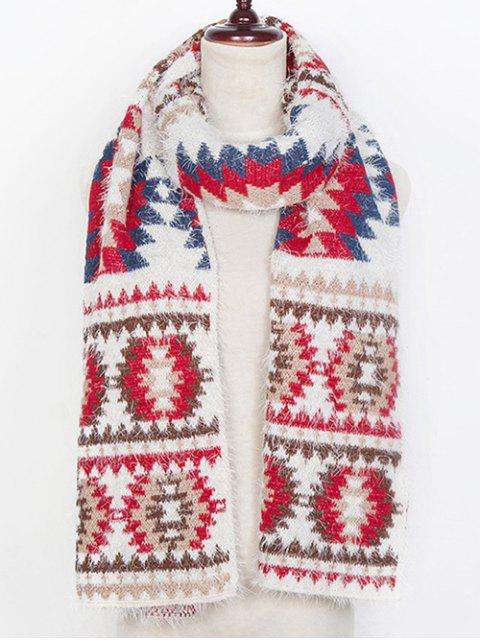 affordable Snowflake Pattern Scarf - WHITE  Mobile