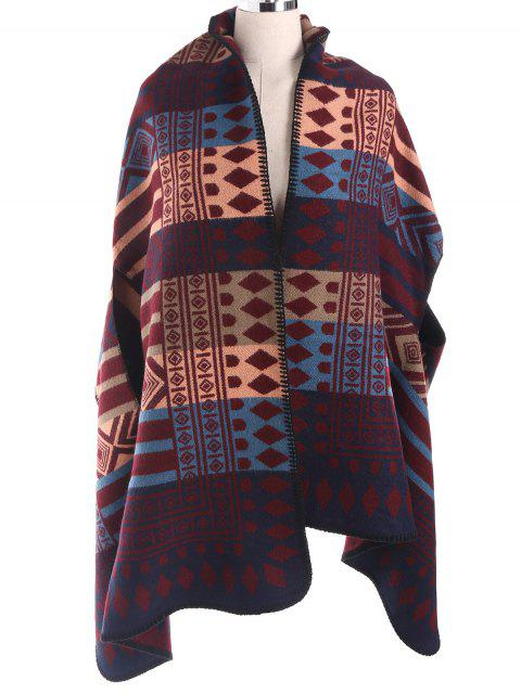 latest Geometry Pattern Cape Pashmina -   Mobile