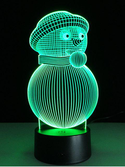 sale Christmas 3D Snowman Touch Colorful Light -   Mobile