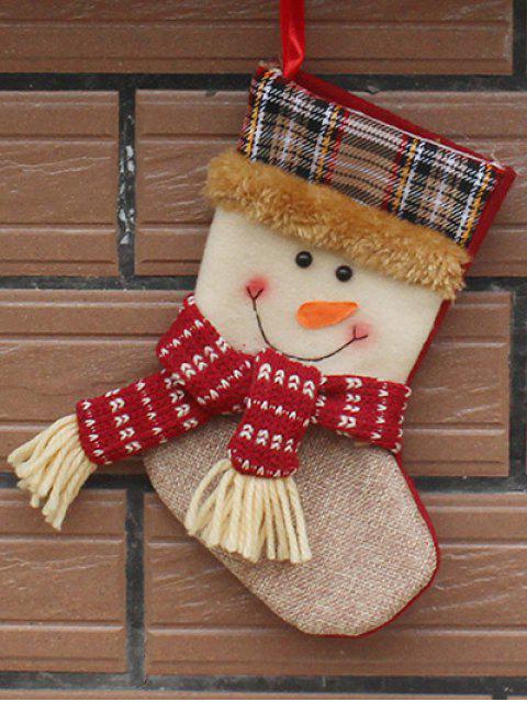 ladies Christmas Tree Snowman Hanging Kids Present Sock -   Mobile