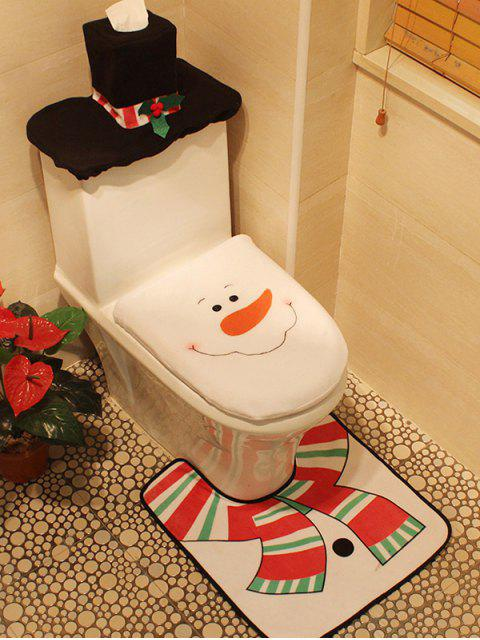 best Christmas 3PCS Snowman Pattern Cover Set - WHITE  Mobile