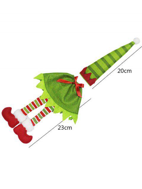 women's Christmas Stripe Wine Bottle Cover Bag -   Mobile