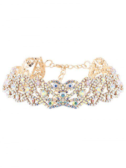 affordable Hollowed Rhinestone Necklace -   Mobile