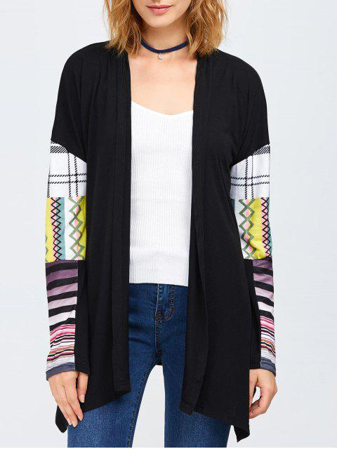 affordable Collarless Tribal Print Duster Coat -   Mobile