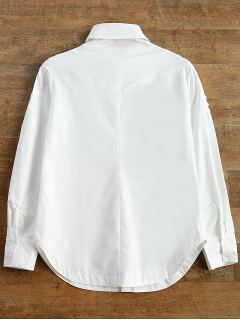 hot Strappy Sleeve Shirt - WHITE 2XL Mobile