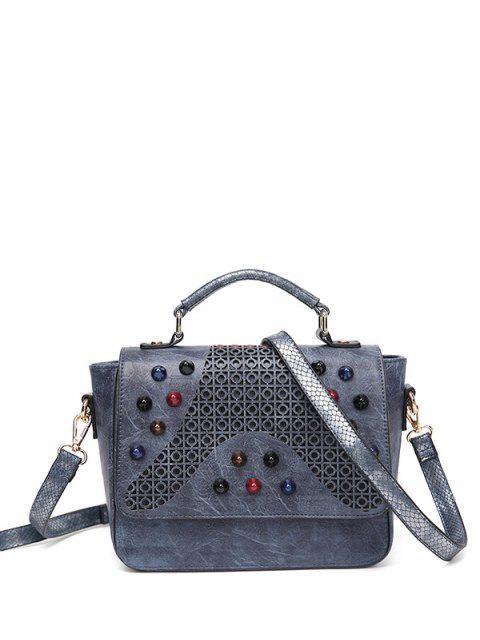 lady Colored Rivet Cut Out Handbag -   Mobile
