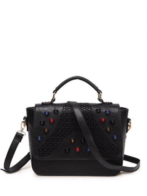 best Colored Rivet Cut Out Handbag -   Mobile