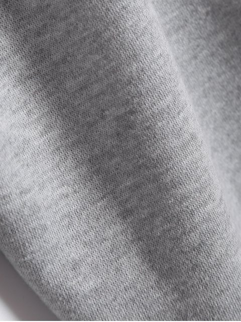 Sweat à capuche de sport imprimé +Pantalon gym droit - Gris 2XL Mobile
