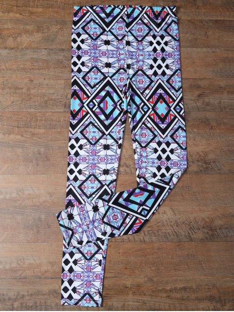 Pantalon collant sportif imprimé de motifs géométriques - Multicolore L Mobile