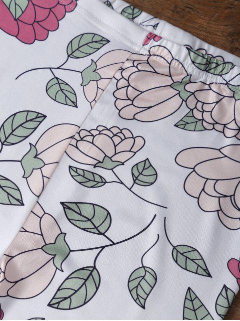 buy Slimming Floral Leggings - FLORAL M Mobile