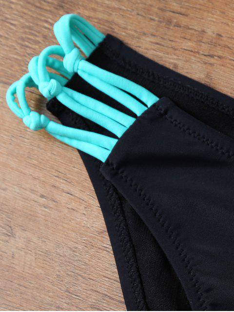 chic Crisscross Strap Bikini Set - BLACK S Mobile