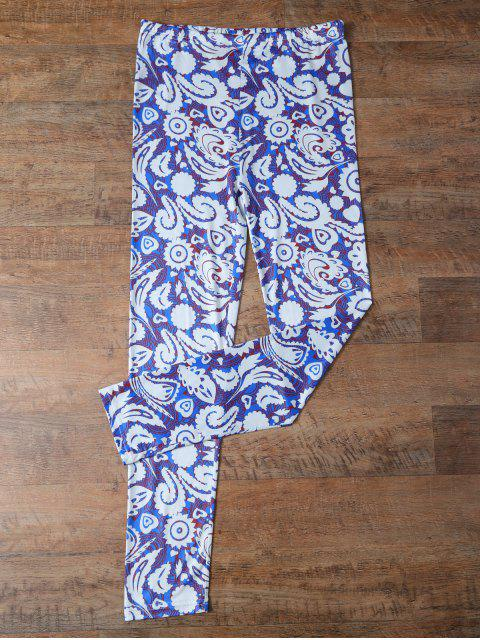 online Plant Printed Leggings - FLORAL XL Mobile