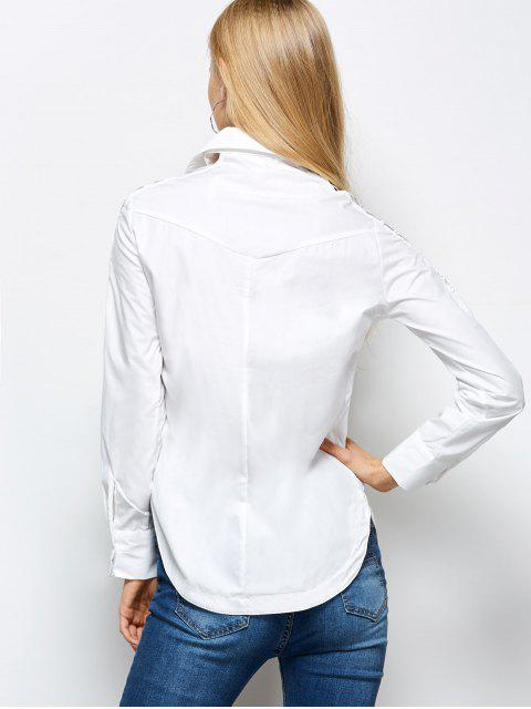 shops Strappy Sleeve Shirt - WHITE S Mobile