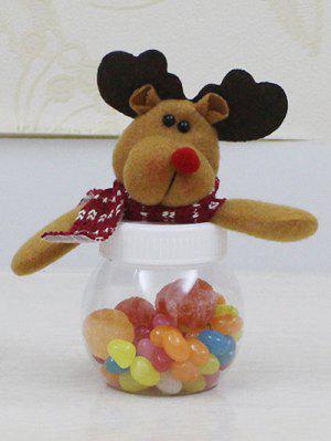 Noël Mignon En Peluche Elk Toy Bonbons Jar - Transparent
