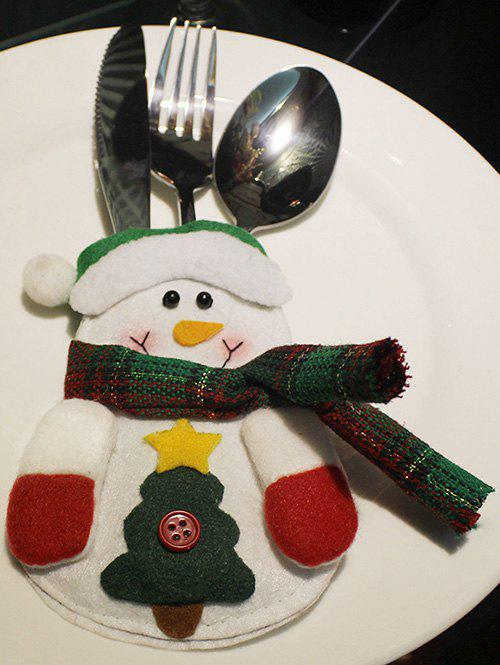 Christmas Snowman Tableware Cover Bag
